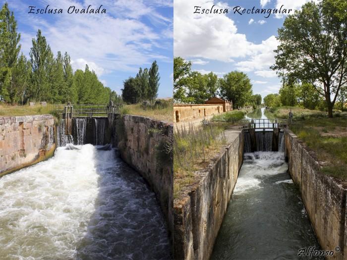 Comparacion Esclusas del Canal de Castilla