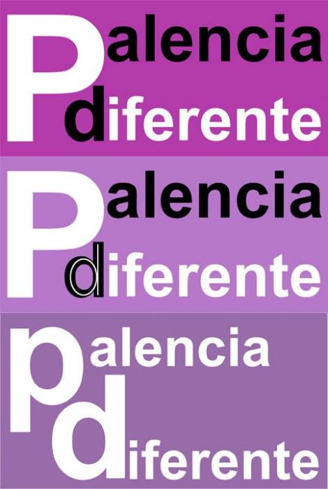 Evolución-del-logotipo,-diferetentes-pruebas,-antiguo-logotipo-Palencia-Diferetente-y-tipografía