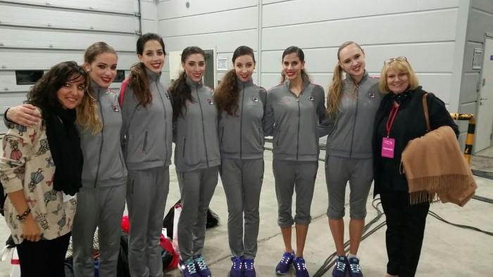 Selección española gimnasia rítmica 2014 en Corea