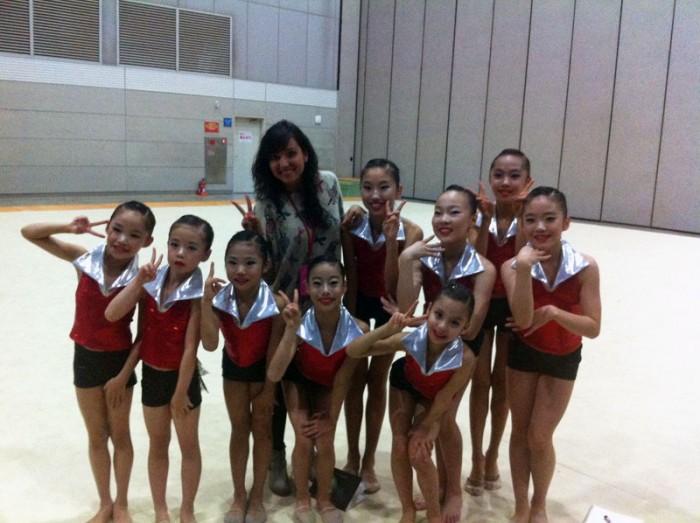 Selección-española-gimnasia-rítmica-2014,-equipo-local