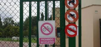 Prohibido bicicletas en parques de Palencia